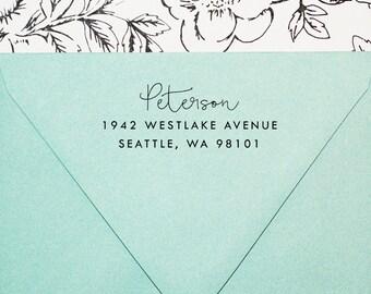 Self-Inking Address Stamp, Custom Stamp, Return Address Stamp, Personalized Stamp, Wedding Invitation Stamp, Wood Stamp - Style #52