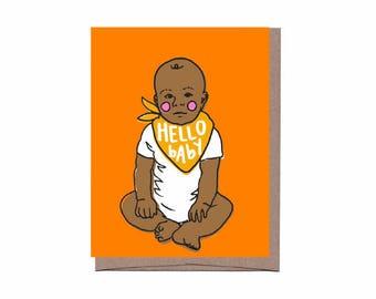 Baby Bandana Card