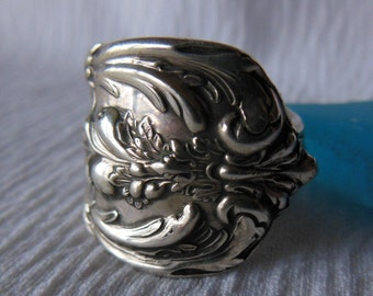 Antique Spoon Ring  Sterling Silver  Size 8.25  Francis l