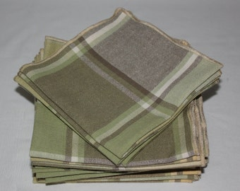 Everyday Cloth Table Napkins (set of 20) in plaid pastels, Table Napkins