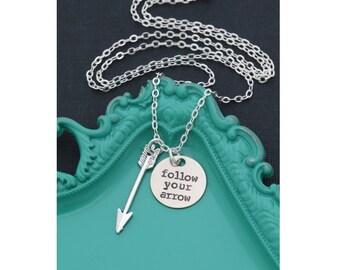 SALE • Graduation Gift Grad Necklace Arrow Gift • Follow Your Arrow Necklace Graduation Girls • School Graduation Jewelry Minimal Gift Idea