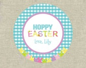 Personalized Gift Tags Printable - Hoppy Easter - Easter Tags - Bunny - Digital File