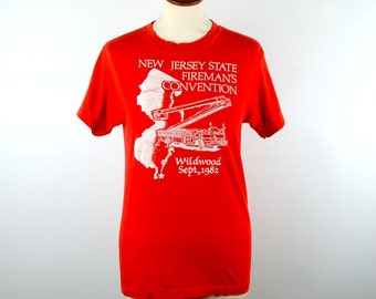 1982 New Jersey State Fireman's Convention Tee