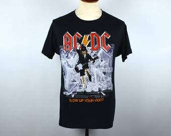 1988 AC/DC T-Shirt - Blow Up Your Video