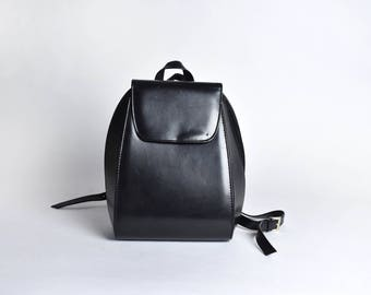 Compact Faux Leather Backpack || Vegan Purse