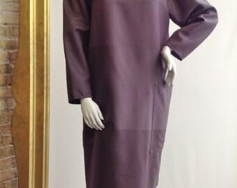 "Vuokko/ Marimekko Putty Brown 2 Piece Tunic and Skirt Set Waist 30-32"" Large"