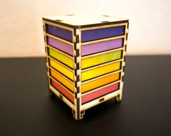 Small Rainbow Striped Lantern