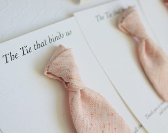 Mini Blush Tie Wedding Favors - Thank You Gift