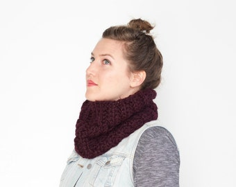 The Stone Pine Cowl | 22 Color Choices | Cozy Chunky Textured Knit Infinity Cowl Scarf