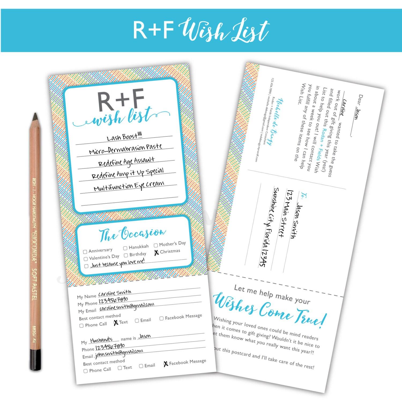 rodan and fields wish list card wish list big business