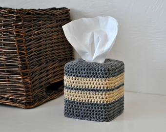 Striped Tissue Box Cover Modern Home Decor Custom Colors
