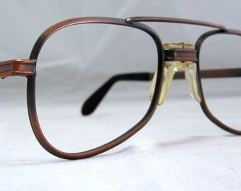 Tart Optical Aviator Sunglass Frames.  Antique Bronze Vintage '70s