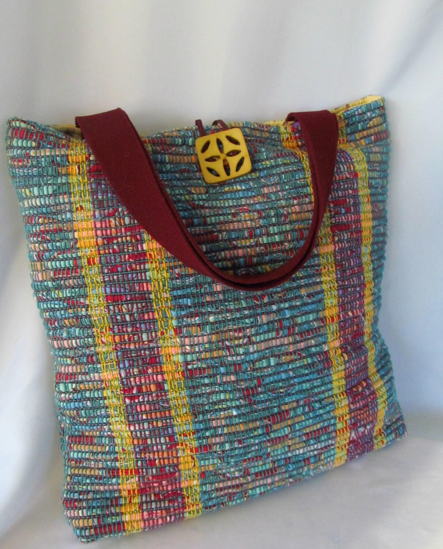 Handwoven Rag Tote Bag