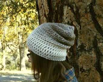 Light Weight Beanie Hat Crochet Two Tone Mens Womens Slouchy Beanie More Color Options