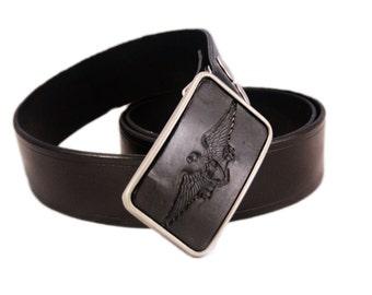 Belt buckle, eagle buckle, bird buckle, leather belt buckle, black belt buckle