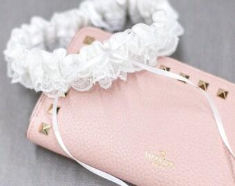 Lace Wedding Garter, White Garter, Ruffle Bridal Garter, Wedding Lace Garters, Garter, Gift For Bride