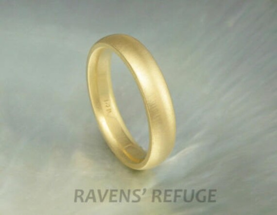 4mm classic 14k gold half round wedding band, comfort fit, in yellow gold, rose gold or white gold