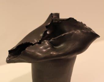 Asymmetrical Black Vase