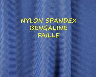 1 YARD, Cornflower Blue, Stretch Bengaline Faille, Fashion or Craft Fabric, Horizontal Ribbing, Lightweight Nylon Spandex, B10