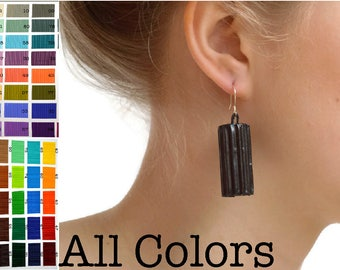 All COLORS: Earrings made of corrugated cardboard TUBI