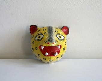 Mexican Folk Coconut Leopard Mask