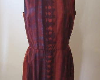Vintage Lloyd Kiva New 1950s Native Print Dress