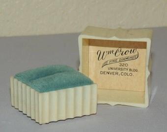 1940s Celluloid Wedding Ring Box