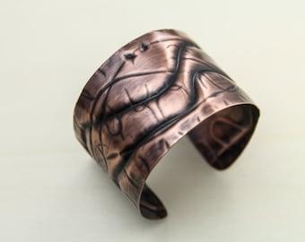 cuff, copper cuff, copper bracelet, formed cuff, sculptural cuff, copper cuff bracelet, unique cuff, unique bracelet, wide cuff bracelet