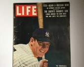 Mickey Mantle 1956 Life Magazine New York Yankees Baseball Collectible Memorabilia 1950s Collectibles Mid Century
