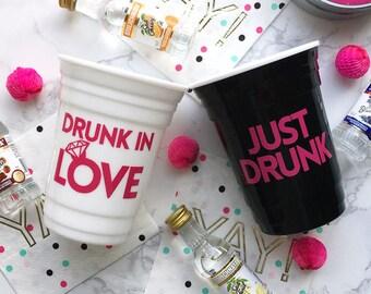 Drunk in love bachelorette party favor Bride-to-be bachelorette party cup Bachelorette cup Custom party cup Bachelorette weekend gift