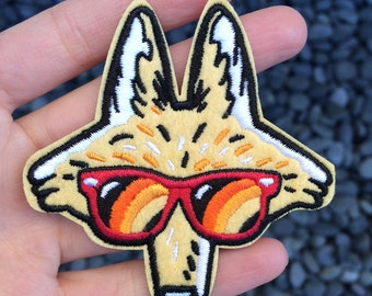 Cool as a Coyote Felt Patch