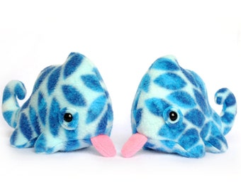 Lil Blue Petals Chameleon Plush