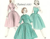 Butterick 8110 Women's or Teen Full Skirt Dress Pattern Uncut Size 16 Bust 36
