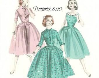 Butterick 8110 Women's or Teen Full Skirt Dress Pattern Uncut Size 16 Bust 36