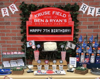 Baseball Marquee Backdrop Customized Printable Click on Item Details for More Info by Beth Kruse Custom Creations