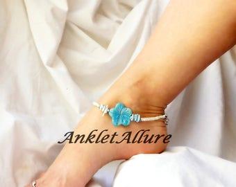 Beach Anklet Flower Ankle Bracelet Flower Jewelry Cruise Ankle Bracelet Body Jewelry