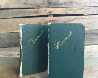 Set of Two Vintage Mini Ledgers or Notebooks by Federal Supply Service