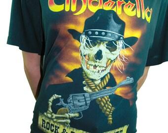 Vintage Cinderella Shirt 80s Band Tee Concert shirt 80s tee 80s shirt Metallica shirt Nirvana Shirt Poison Tee Slayer Tee Iron Maiden Tee