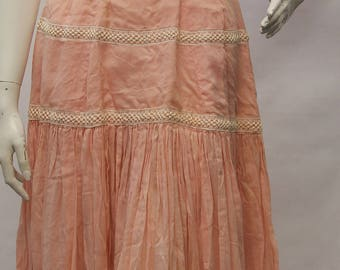 1950's SUZY PERETTE Women Pink Summer Sleeveless Summer Dress Size S V70045