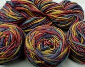 4 Skeins Bulky Wool Yarn variegated ombre blue olive mauve by GGH Trikolore color 35