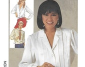 Simplicity 6994 Women's 80s Set of Blouses Sewing Pattern Size 14 Bust 36