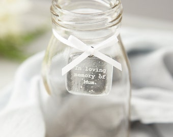 In loving memory personalised glass tag, mother's day remembrance gift, memorial gift, remembrance gift, Sympathy Gift