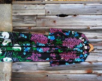 Dream Big Floral Maxi Dress in Flowing Black Garden Print