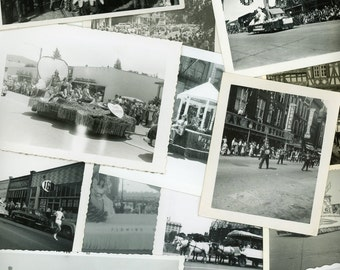 "25 pc - Vintage Photos ""Here Comes the Parade Collection"" Snapshot Lot Old Photo Black White Photography Paper Ephemera Collectibles - X004"