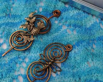 Outlander Shawl Pin Gift Set in Vintage Bronze