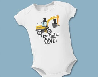 First Birthday Shirt - Mr. Bulldozer Birthday Shirt - 2nd, 3rd, 4th, 5th, etc Birthday Tshirt - Personalized Party Supplies - Construction