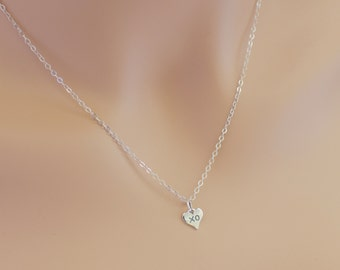 Heart XO Necklace, For Her, XO Necklace, Girlfriend Gift, Sterling Silver, Heart Necklace, BeadXS, Gift For Wife, Delicate Necklace, Dainty