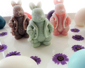 BUNNY SOAP, Bunny Soap, Rabbit Soap, Novelty Soaps, Animal Soap, Party Favor, Custom Colored, Custom Scented, Vegetable Based