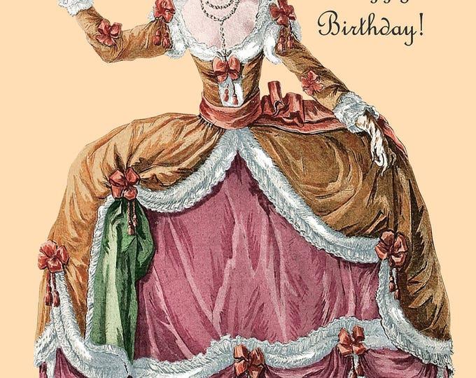 Marie Antoinette Card ~ Birthday Card ~ You Take the Cake! Happy Birthday! ~ Birthday Cake ~ Funny Postcard ~ Pretty Girl Postcards ~
