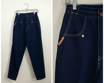 ultra high waisted 90s Gitano straight blue jeans M